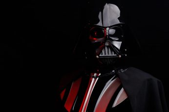 Wallpaper Darth Vader, Star Wars, Sith, black background, studio shot, one person