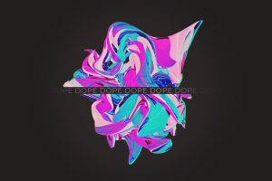 Glitch art, abstract, 3D Abstract, dope wallpaper