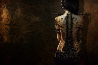 Wallpaper Black and brown woman painting, fantasy art, artwork, digital art