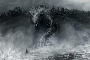 Fantasy dragon desktop wallpaper