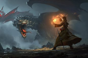 Fantasy dragon wallpaper hd