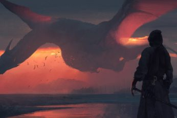 Fantasy wallpaper dragon