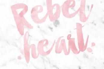 Rebel heart, Marble wallpaper