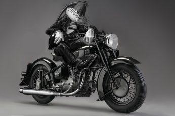 Wallpaper Bugs Bunny BW Motorcycle Looney Tunes HD, bugs bunny on motorcycle