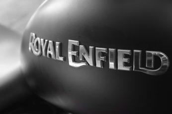 Wallpaper Royal Enfield logo, Bike, Bullet, Royal, Enfield, black, white