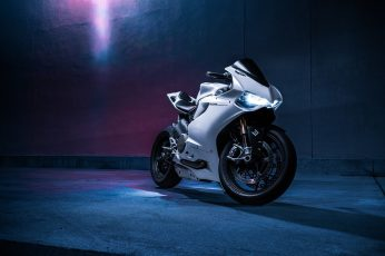 Wallpaper white and black sports bike, Ducati 1199, motorcycle, transportation