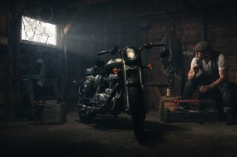 Motorcycle wallpaper Cigar Shed Royal Enfield HD, bikes