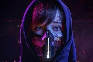 Wallpaper digital art, artwork, cyber, cyberpunk, neon, lights, neon lights