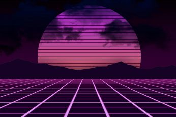 Wallpaper magenta, vaporwave, digital art, web, synthwave, symmetry, net