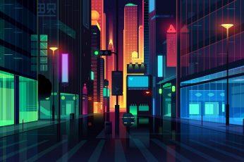 Wallpaper digital, digital art, artwork, illustration, Romain Trystram