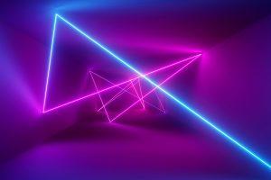 Wallpaper abstract, neon, lights