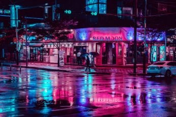 Wallpaper photography, city, city lights, street, night, neon lights