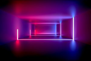 Wallpaper design, neon, abstract, light, background, room