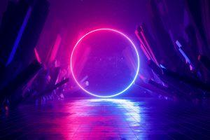 Wallpaper digital, digital art, artwork, illustration, abstract, neon