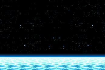 Wallpaper Pixel Art, Space, Stars