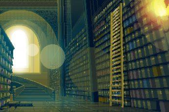 Pixel art wallpaper Artistic, Library, Pixel