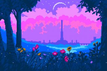 Pixel art aesthetic wallpaper