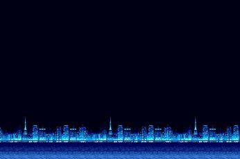 Pixel art desktop wallpaper