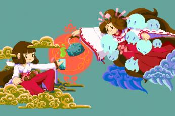 Pixel art computer backgrounds