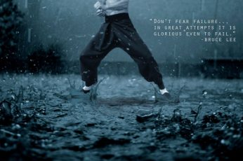 Wallpaper quotes, bruce lee, fear