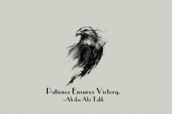 Wallpaper Imam, motivational, eagle, Islam, quote, Ali ibn Abi Talib