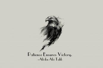 Wallpaper Imam, motivational, eagle, Islam, quote, Ali ibn Abi Talib