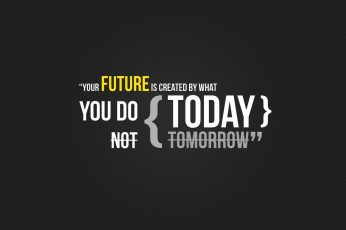 Wallpaper Future Today text, typography, quote, minimalism, digital art