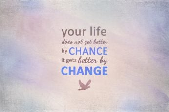 Wallpaper your life does not get better by chance it gets better by change text overlay