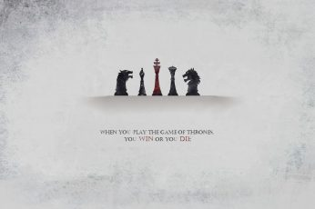 Wallpaper Game of Thrones logo, Book quotes, chess, A Song of Ice and Fire