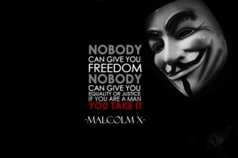 Wallpaper guy fawkes mask with text overlay, typography, quote, Anonymous