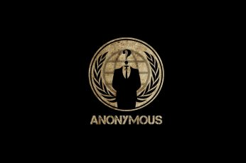 Wallpaper anonymous, computer, hacker, legion, mask, quote