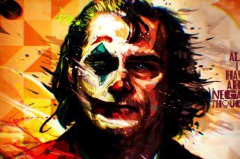 Wallpaper Joker, Joker (2019 Movie), Joaquin Phoenix, artwork, movies