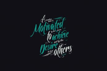 Wallpaper black background with green and white text overlay, quote, typography