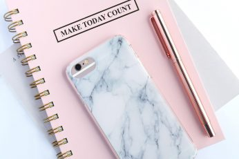 Wallpaper rose gold iPhone 6s and white and gray marble case, hertford