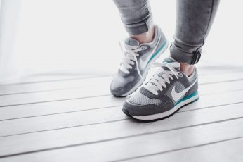 Wallpaper Grey sport shoes, sneakers, adidas, nike, athletic, running, fitness