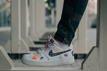Wallpaper Selective Focus Photography Of Person Wearing Nike Air Force 1 Low Top Shoe