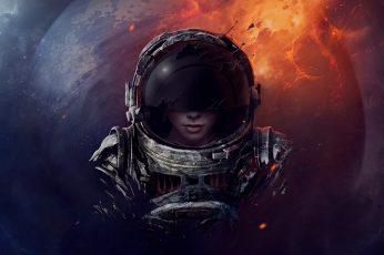 Wallpaper astronaut digital wallpaper, astronaut digital wallpaper, space