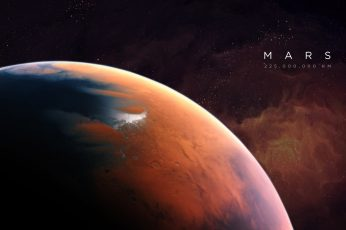 Wallpaper Mars digital wallpaper, space, universe, artwork, planet, space art