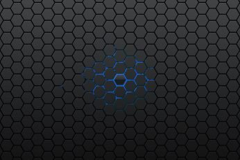 Black and blue abstract wallpaper, gray and blue honeycomb graphic