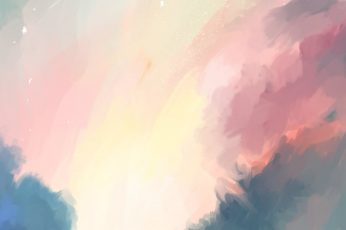 Pink and blue abstract painting, digital art, artwork, backgrounds