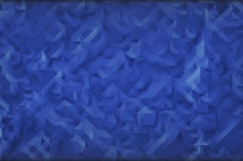 Blue digital wallpaper, digital art, low poly, minimalism, 2D