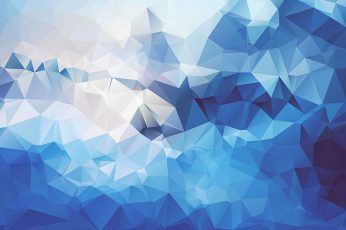 Blue, white, and teal wallpaper, blue, teal, and white geometric artwork wallpaper