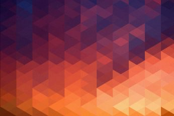 Orange and blue graphic artwork, abstract, purple, colorful, digital art