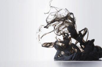 Blacklight wallpaper, abstract, smoke, simple background, digital art