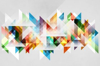 Multicolored geometric wallpaper, blue, white, and green abstract painting