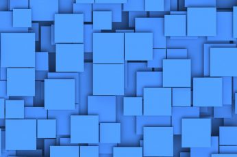 Blue wallpaper, minimalism, square, digital art, pattern, texture