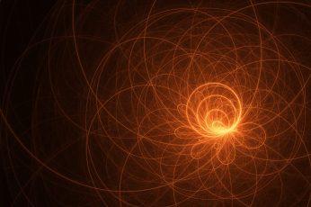 Orange and black abstract wallpaper, digital art, CGI, minimalism