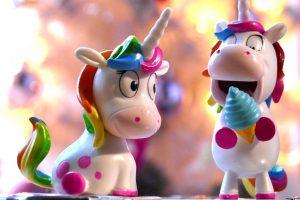 Unicorn wallpaper, pink, ice, toys, sweet, rainbow, colorful, cute, fantasy