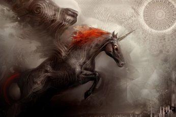 unicorn wallpaper flying horse 1920×1080 Animals Horses HD Art