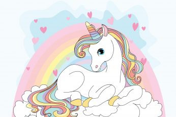 Unicorn wallpaper, Girly, Rainbow, HD, 4K